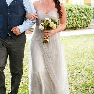 Jenny Yoo Annabelle Bridesmaid dress size 6 Grey
